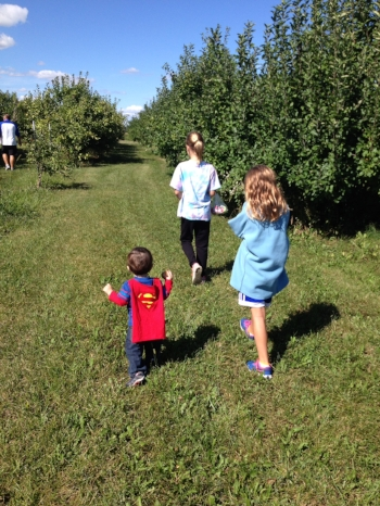 Apple picking at Stuckey Farms