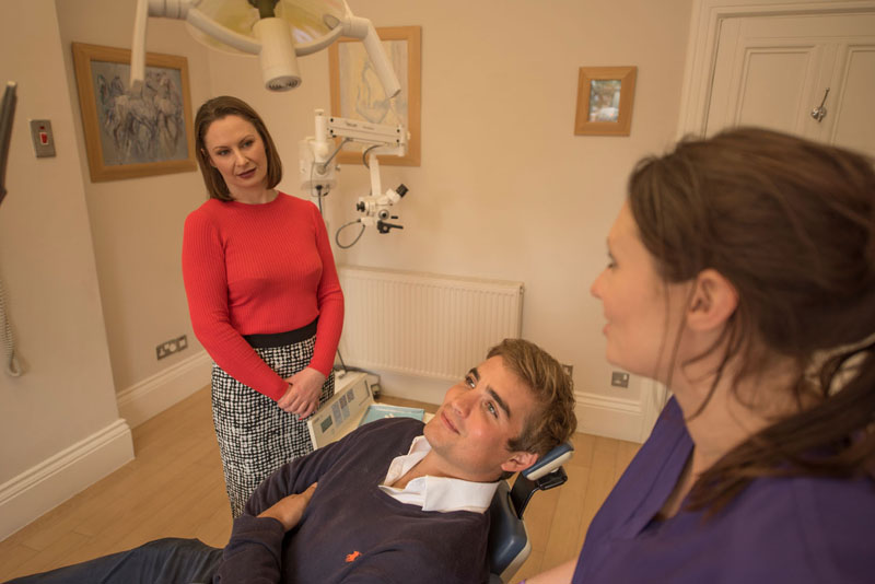 Patient in treatment at Redcliffe Dental
