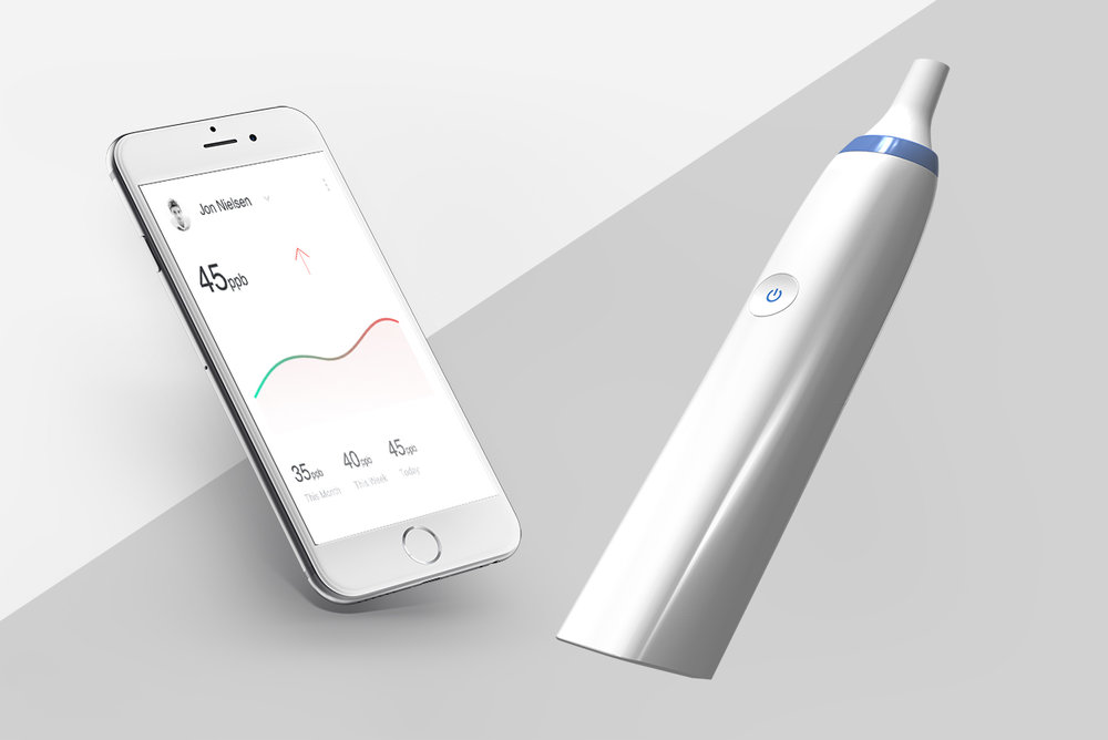 Device & App - To monitor changes in a breath biomarker over time.