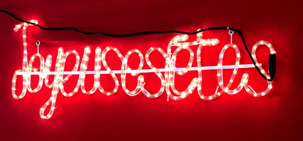 joyeuses fêtes, néon