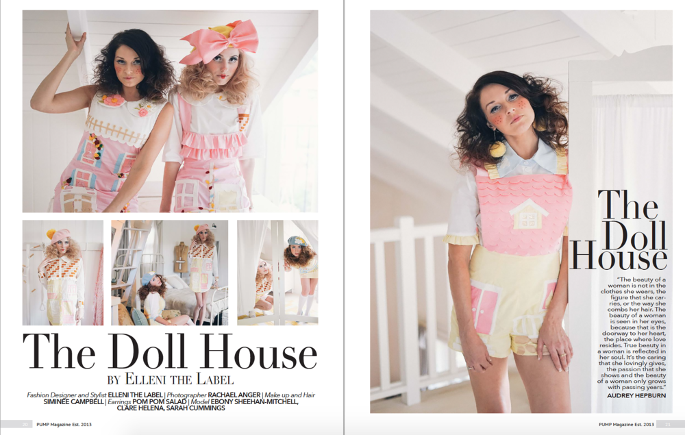 Dollhouse in Pump Magazine. Click to see details of Dollhouse Shoot