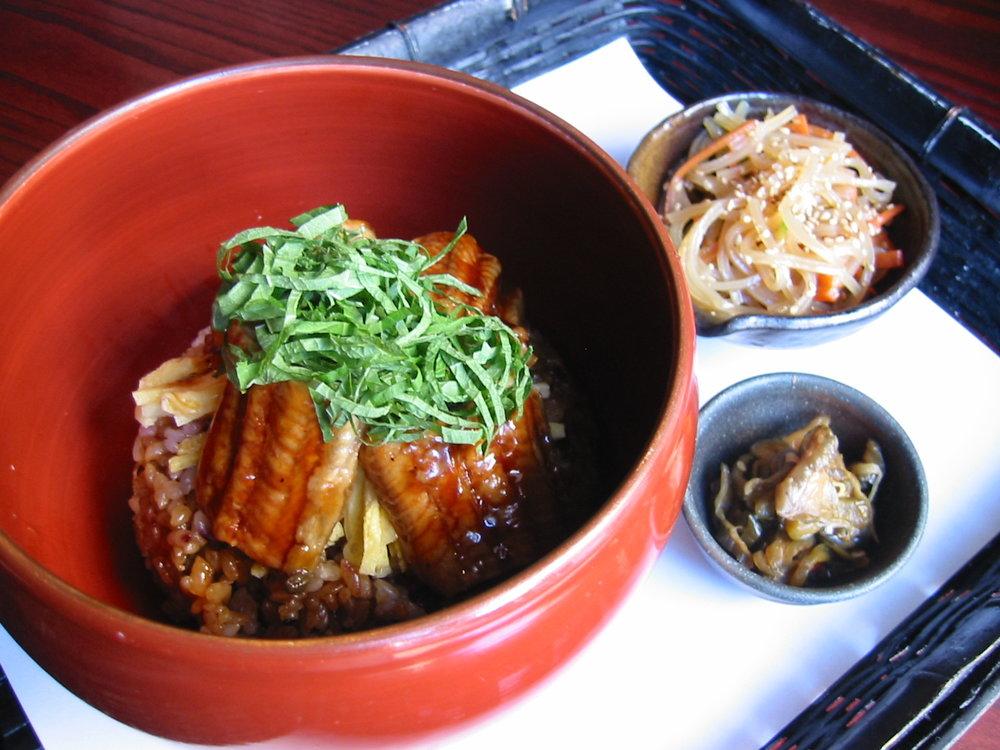 UNAGI KABAYAKI  - Sliced grilled eel with shredded egg omelette