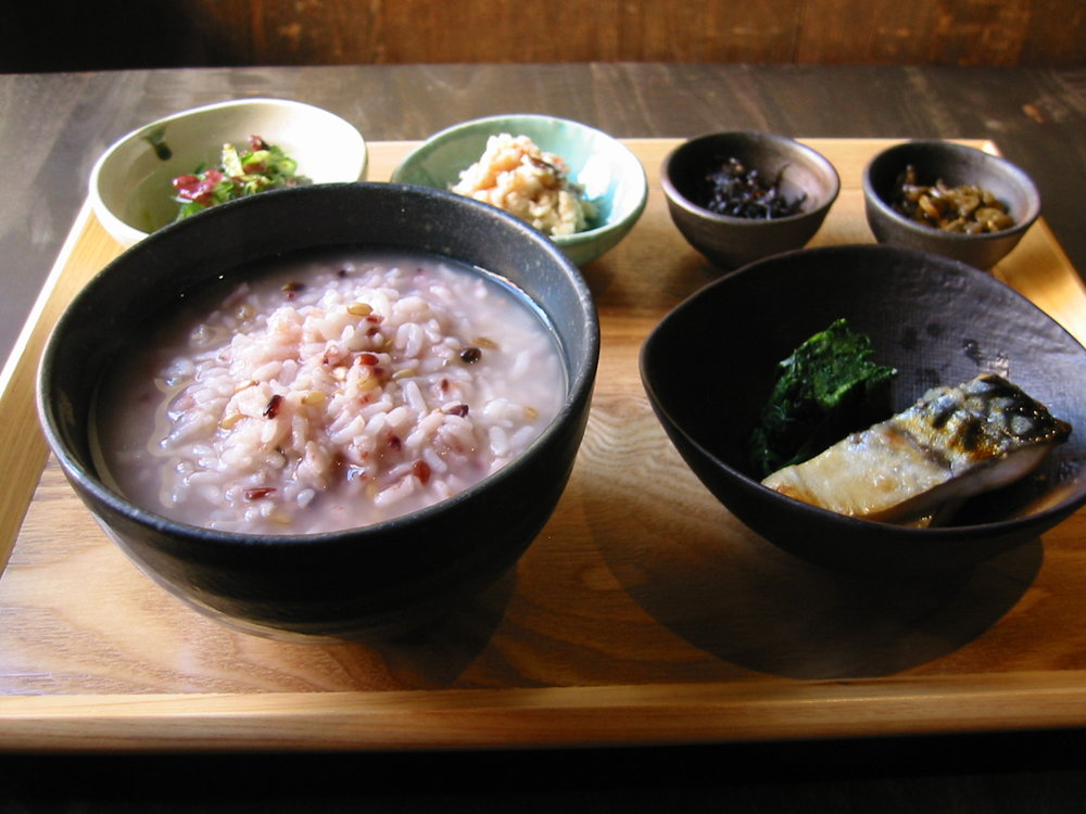 KAYU SET • 23. - Seven-Grain Rice Porridge Daily Side Dish Today's Special Dessert