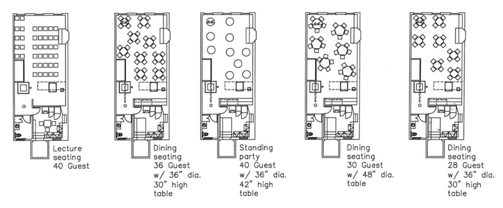 We have a varieties of room layouts, plus designs not pictured that we can re-imagine with you
