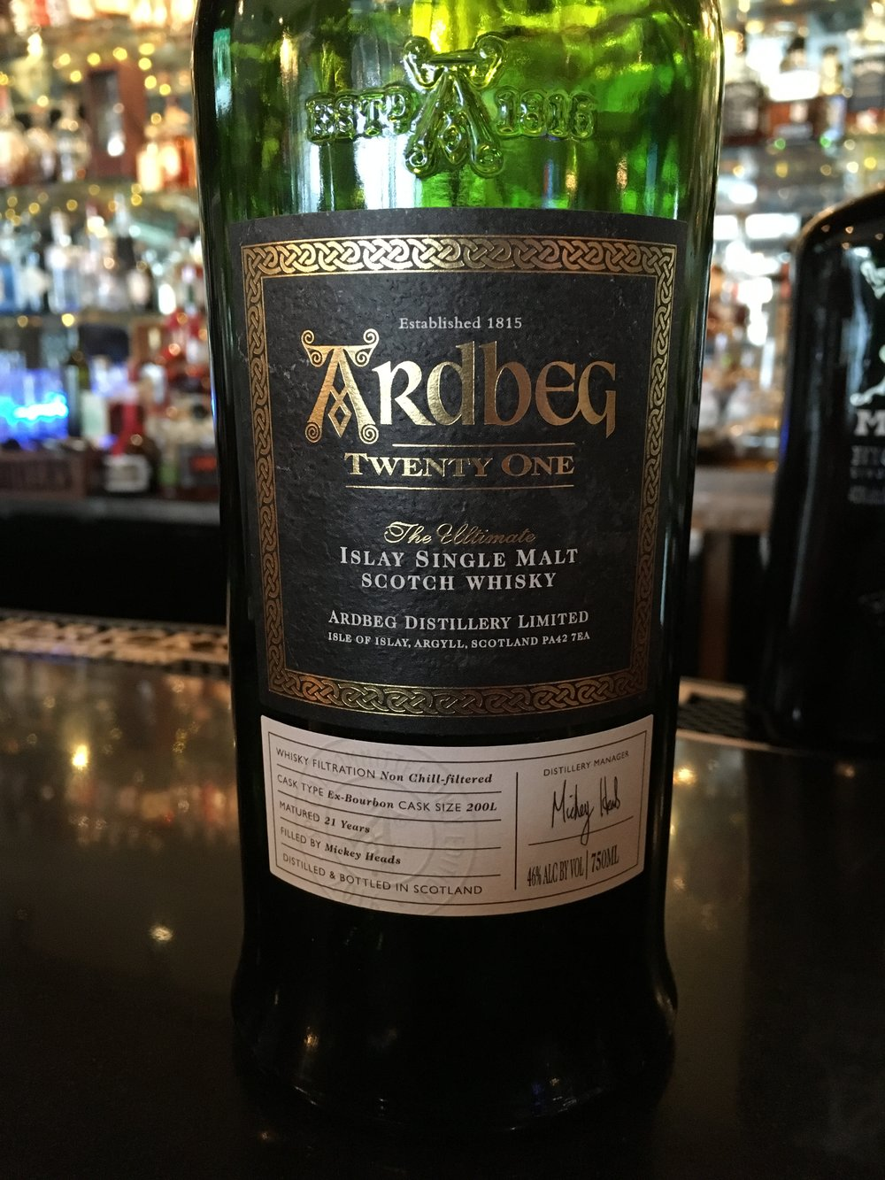 21 Year Old | 46% ABV - Distillery | Ardbeg