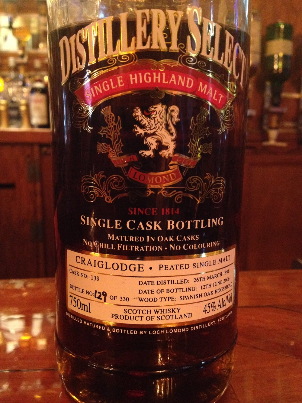 8 Year Old | 45% ABV - Distillery | Loch Lomond