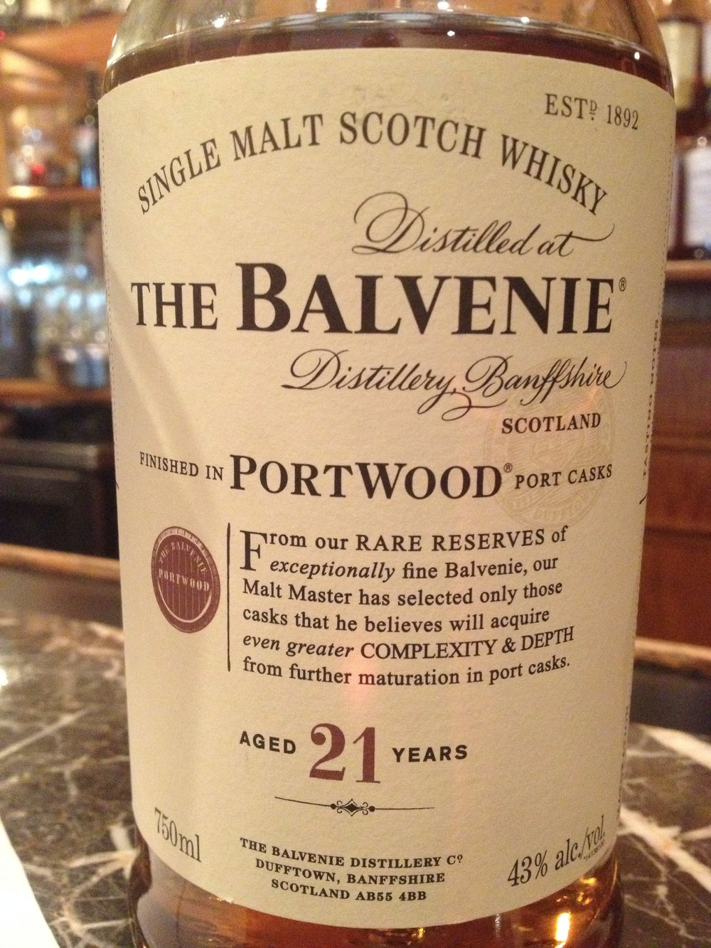 21 Year Old | 43% ABV - Distillery | Balvenie