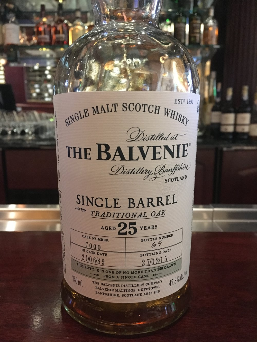 25 Year Old | 47.8% ABV - Distillery | Balvenie