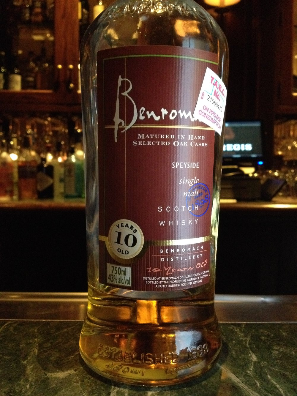 10 Year Old | 43% ABV - Distillery | Benromach