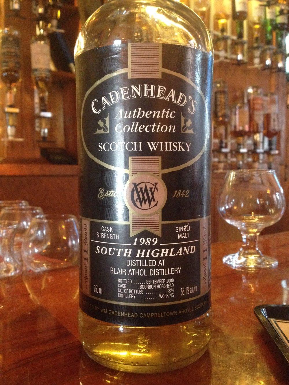 11 Year Old   58.1% ABV - Distillery   Blair Athol