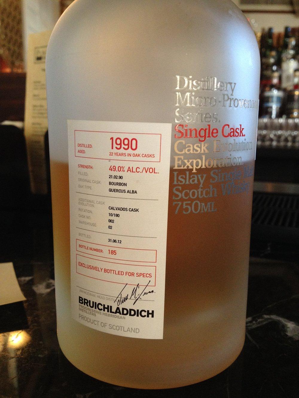 22 Year Old   49% ABV - Distillery   Bruichladdich