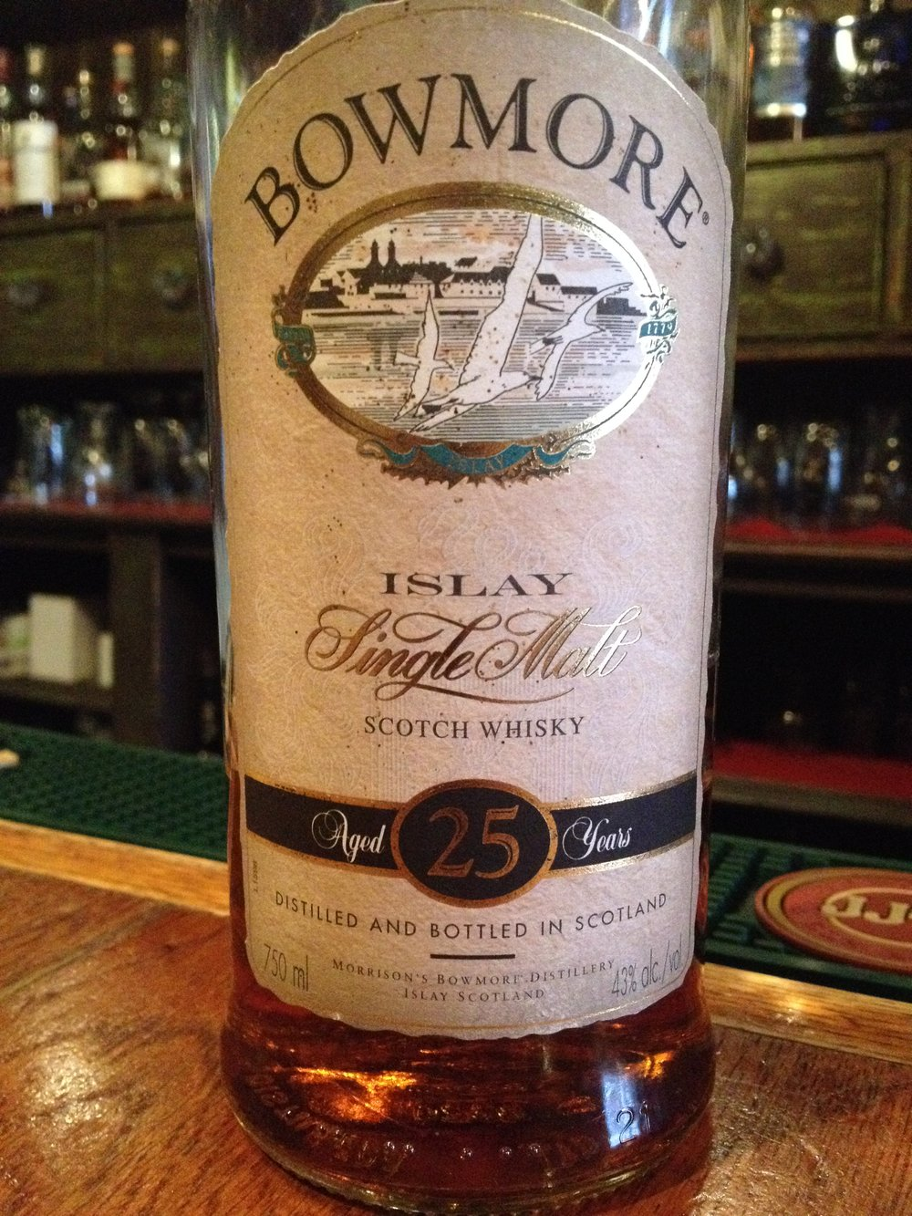 25 Year Old | 43% ABV - Distillery | Bowmore