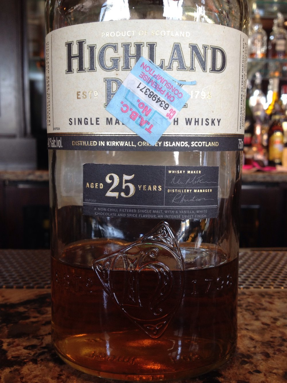 25 Year Old | 48.1% ABV - Distillery | Highland Park