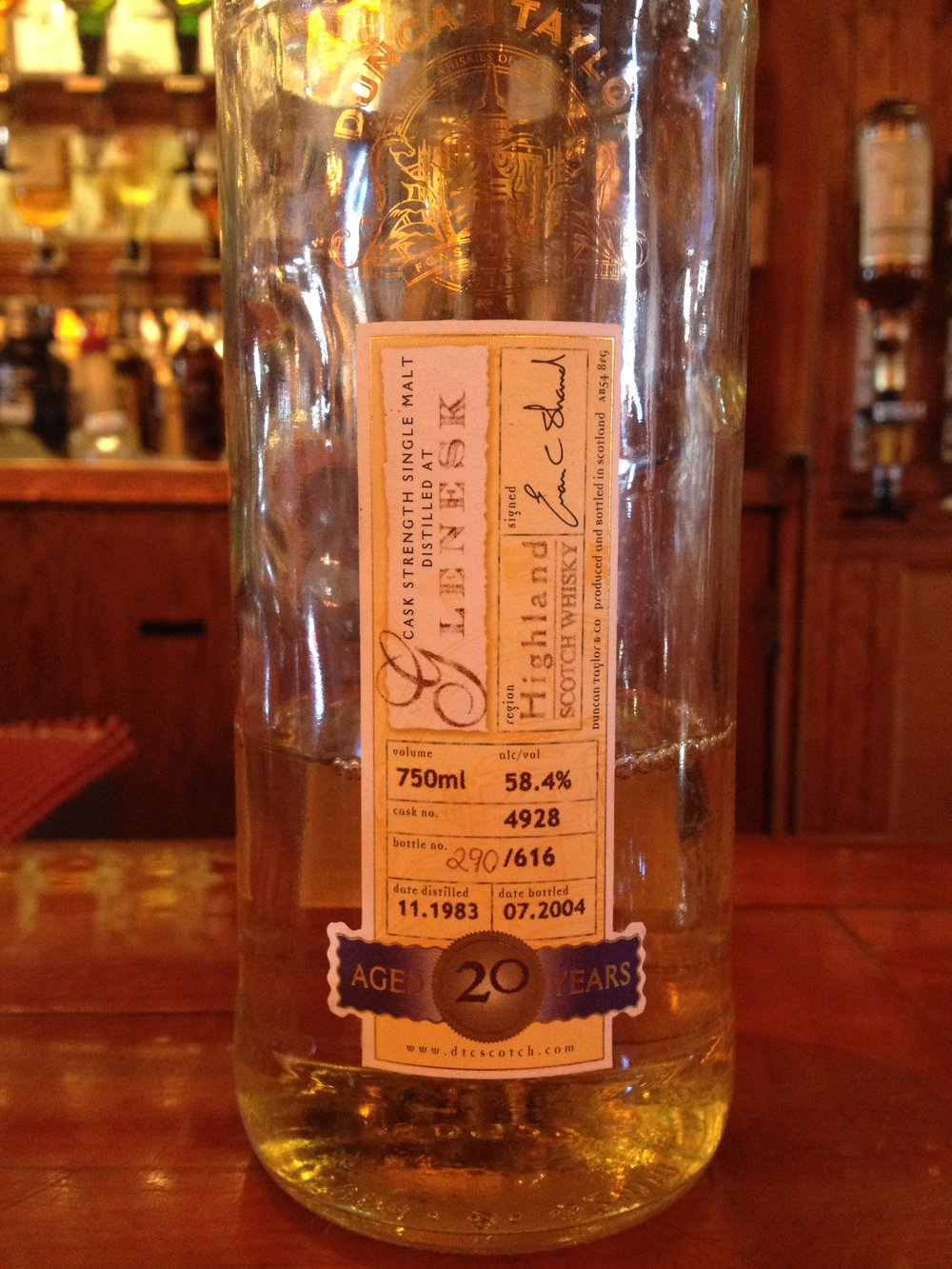 20 Year Old | 58.4% ABV - Distillery | Glenesk