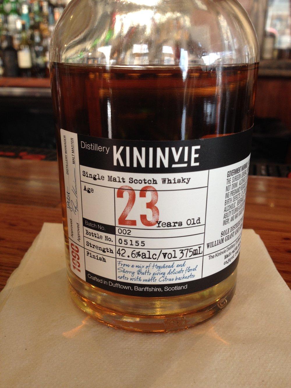 23 Year Old | 42.6% ABV - Distillery | Kininvie