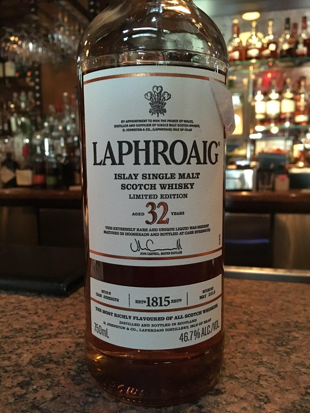 32 Year Old   46.7% ABV - Distillery   Laphroaig