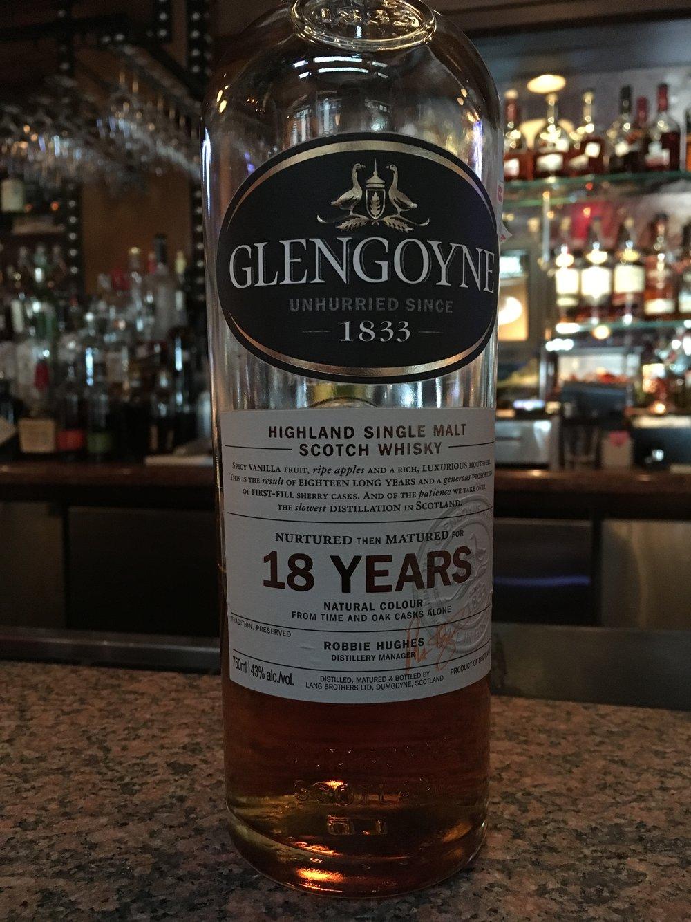 18 Year Old   43% ABV - Distillery   Glengoyne