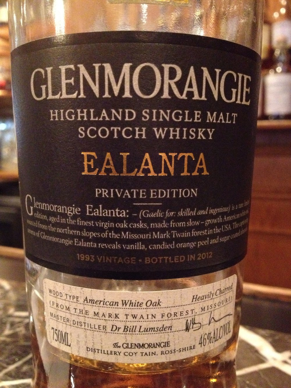 19 Year Old | 46% ABV - Distillery | Glenmorangie