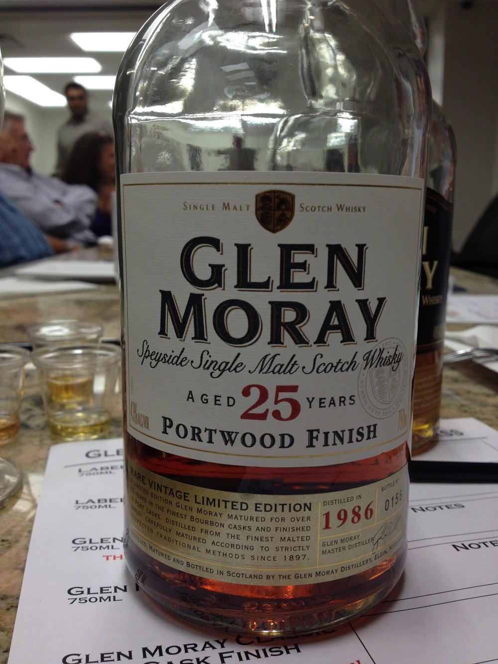 25 Year Old   43% ABV - Distillery   Glen Moray