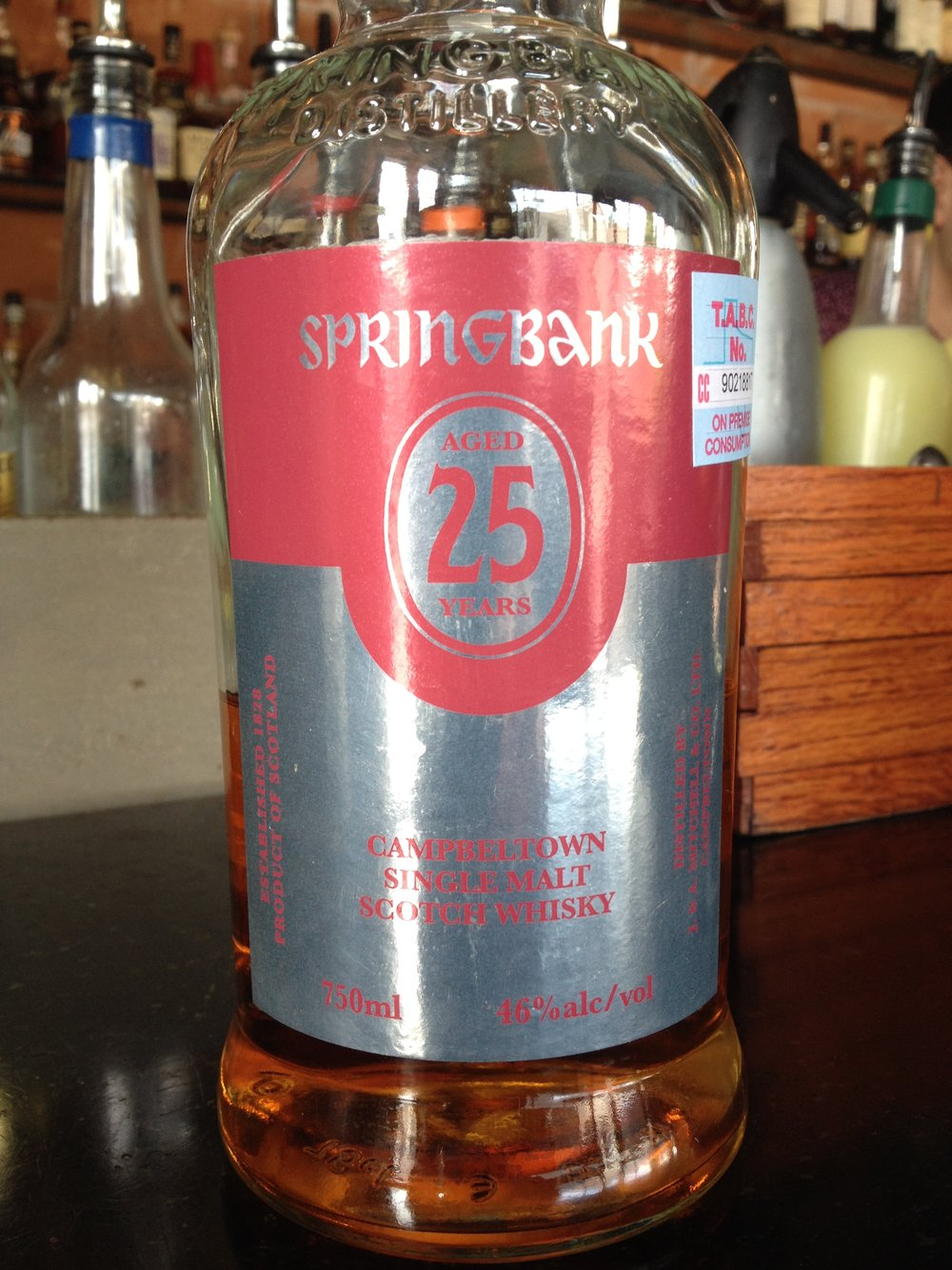 25 Year Old | 46% ABV - Distillery | Springbank