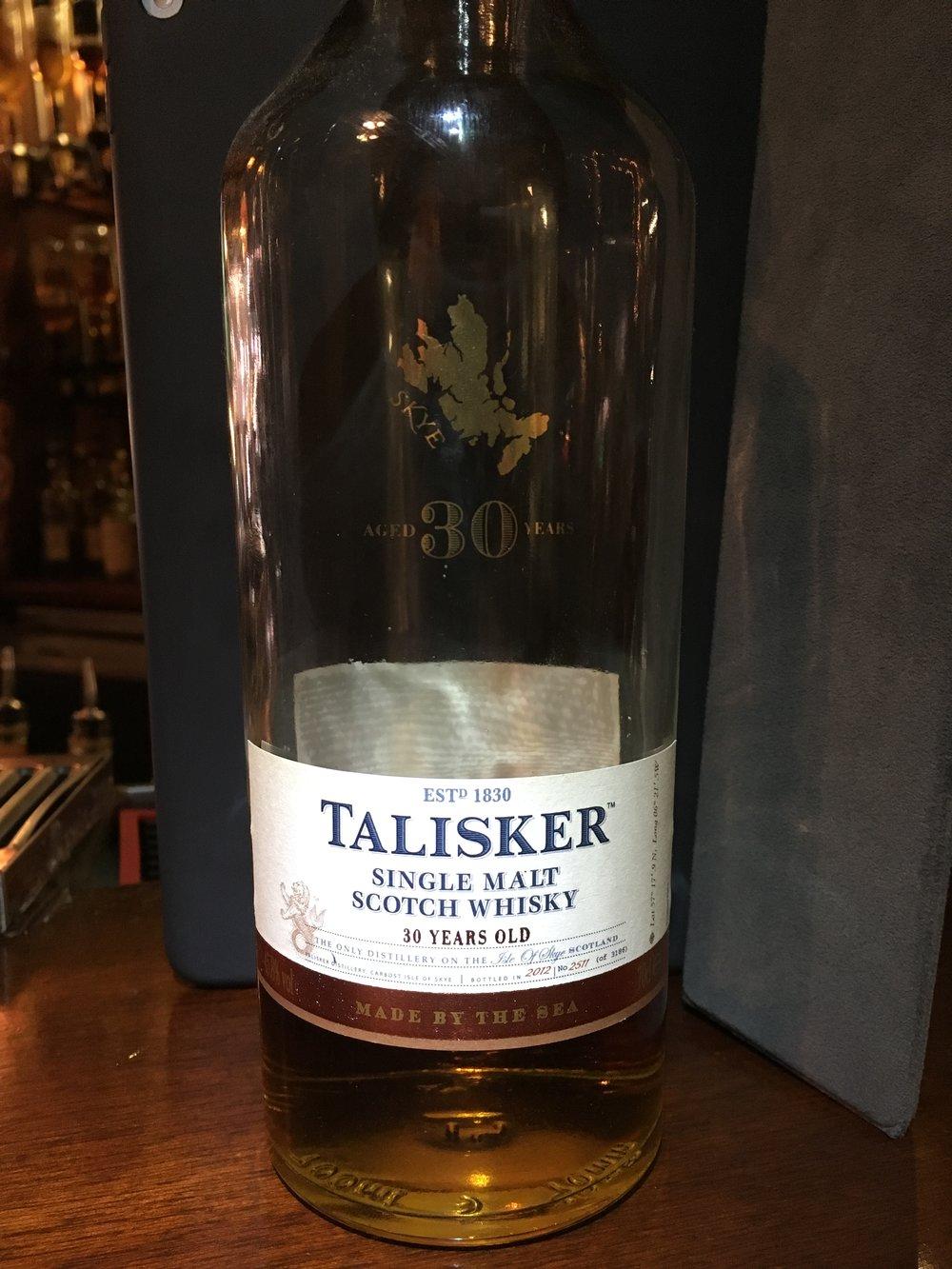 30 Year Old   45.8% ABV - Distillery   Talisker