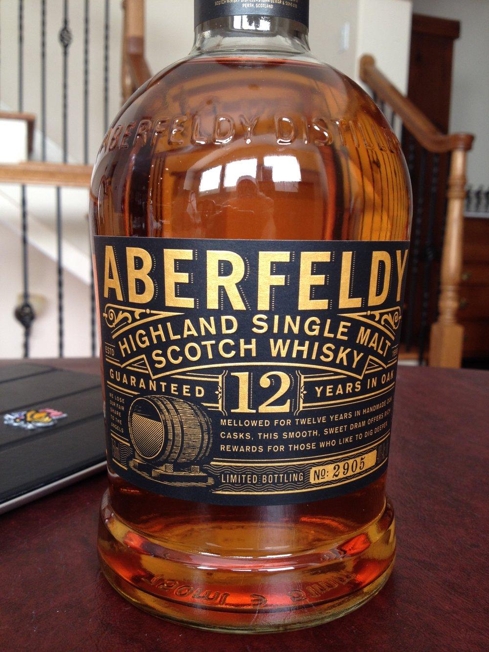 12 Year Old   40% ABV - Distillery   Aberfeldy