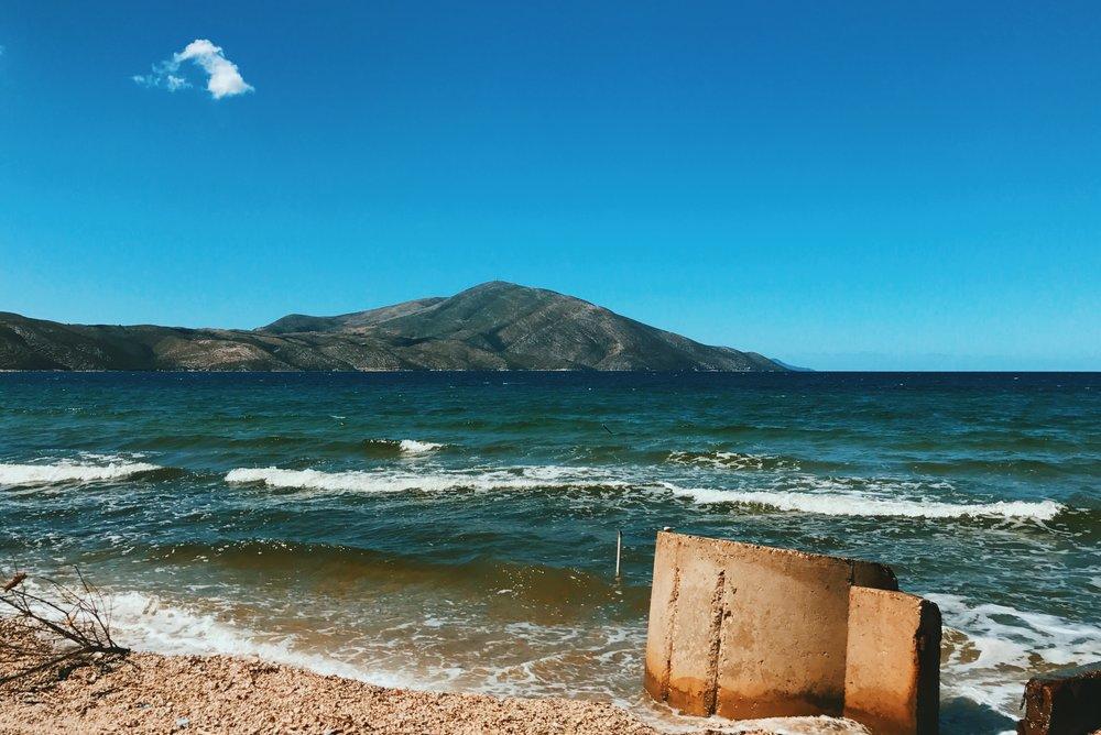 The sea in Orikum, Albania