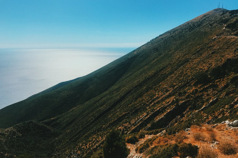 The view from the Llogara Pass in Albania