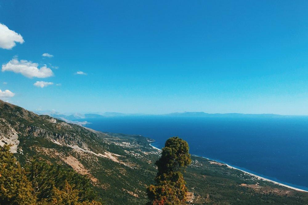 The Llogara Pass road in Albania