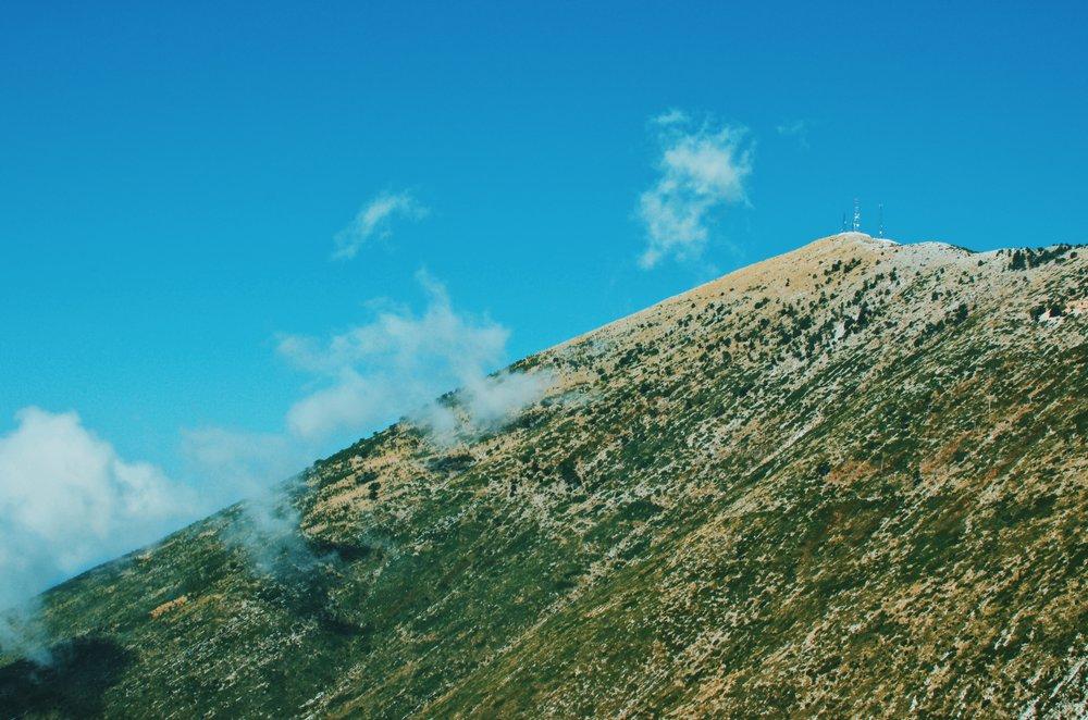 Mountains at the Llogara Pass in Albania