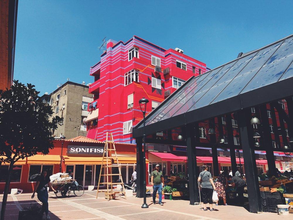 Pazari I Ri Market in Tirana