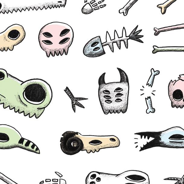 rachel logan illustration pastel goth skull bones stickers .jpg