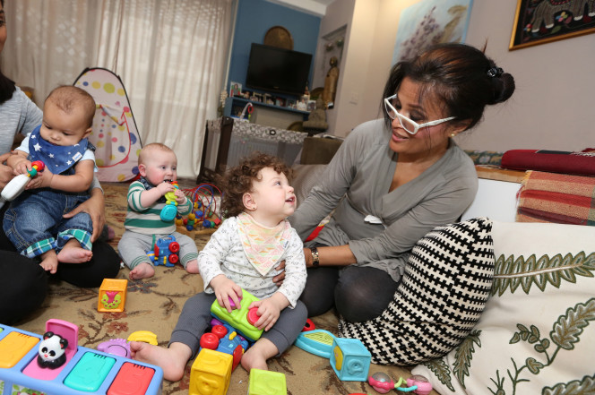 Afsana Khundkar cares for kids in her Gramercy Park apartmen. Photo Credit: New York Post