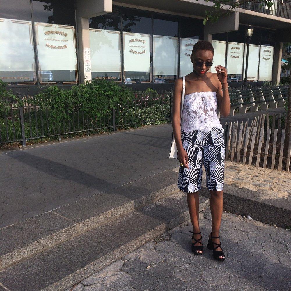 Patterns - Top: DIY LaceBottoms custom made shorts from Amyang