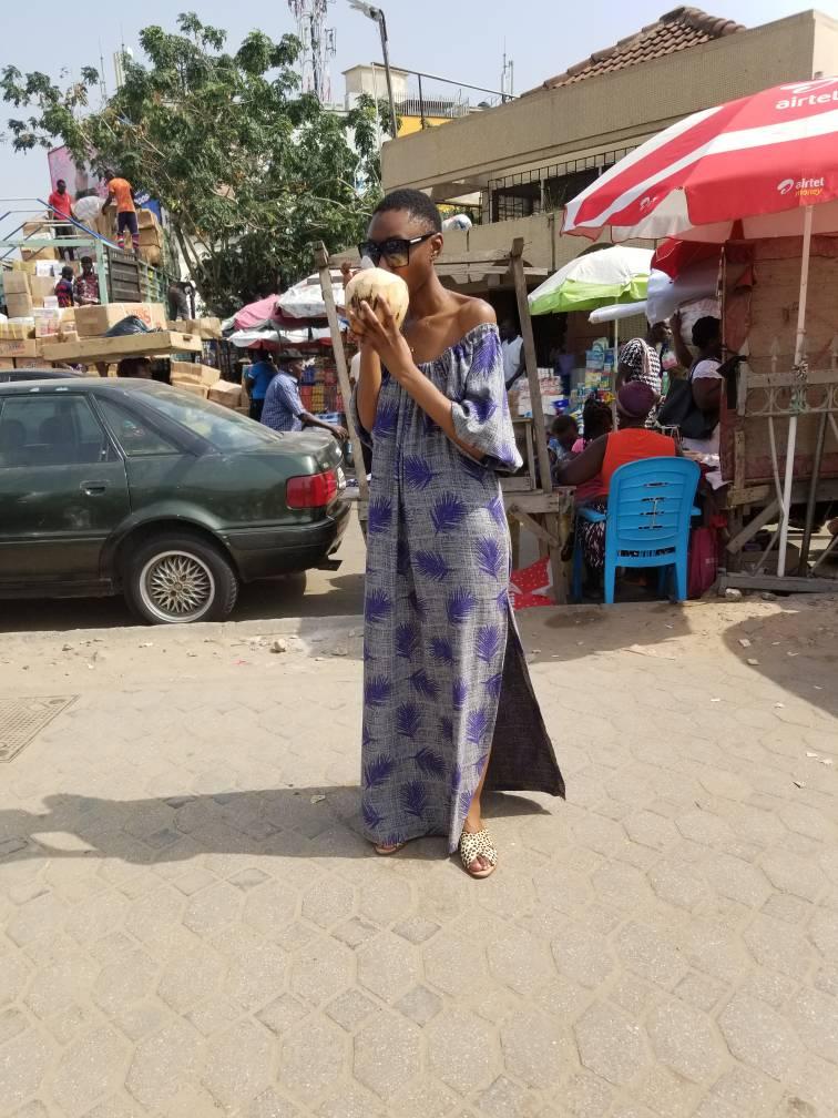 Tanentama Fabrics live from the Gold coast, Ghana - Dress: Tanetema Fabrics, Shoes Loeffler Randall, Sunglasses Tom Ford