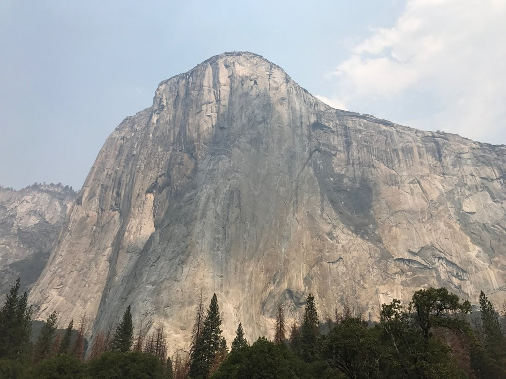 Standing here in front of El Capitan, I can only raise my eyes. There is no thought about where we'll hike next or what we'll be having for dinner. I can only stand in awe and try to take it in. But I can't. It's too magnificent. I can only be present and allow praise to rise from my soul.