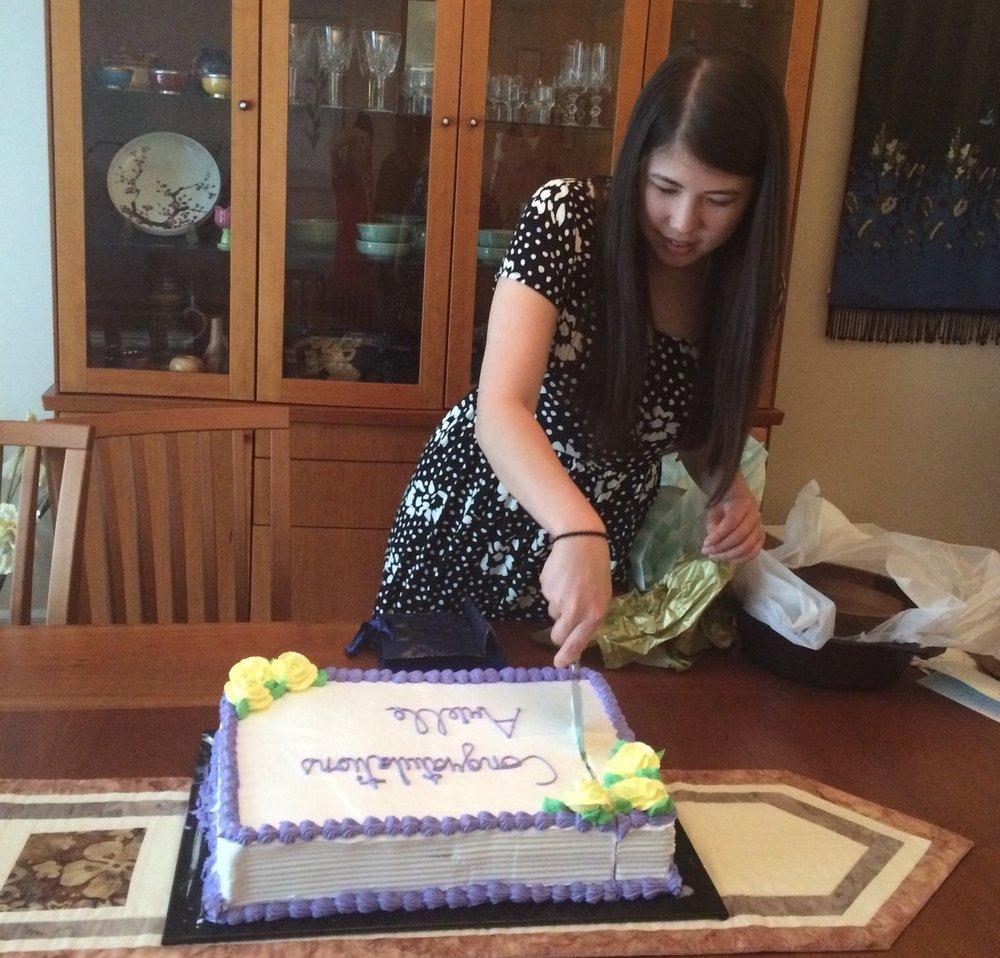 Arielle's graduation party.