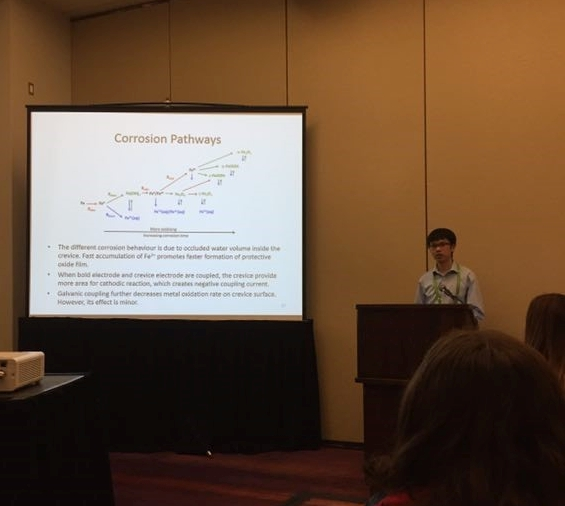 Dan Guo giving an oral presentation at the CSC conference, 2017.