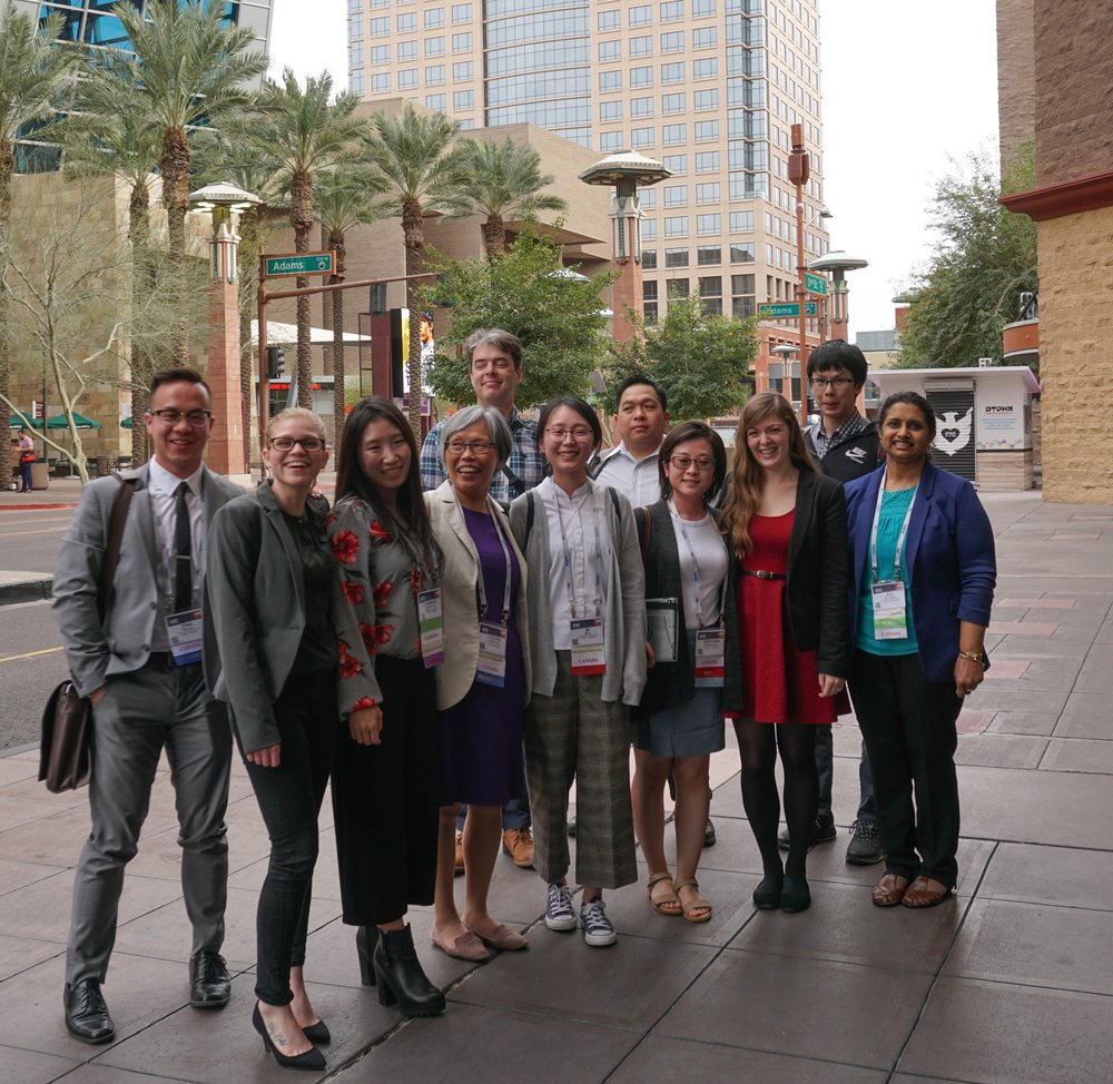 Members of the Wren Group and some Shoesmith Group members outside the Conference centre at the 2019 Waste Management Conference, Phoenix, Arizona.