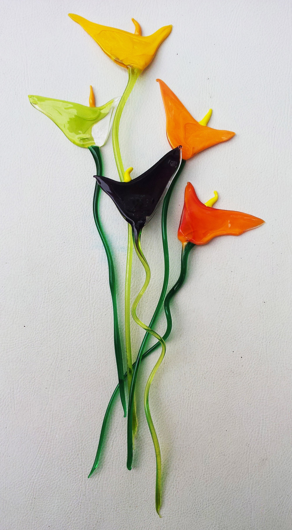 flores de cristais- 10,00 cada sob encomenda