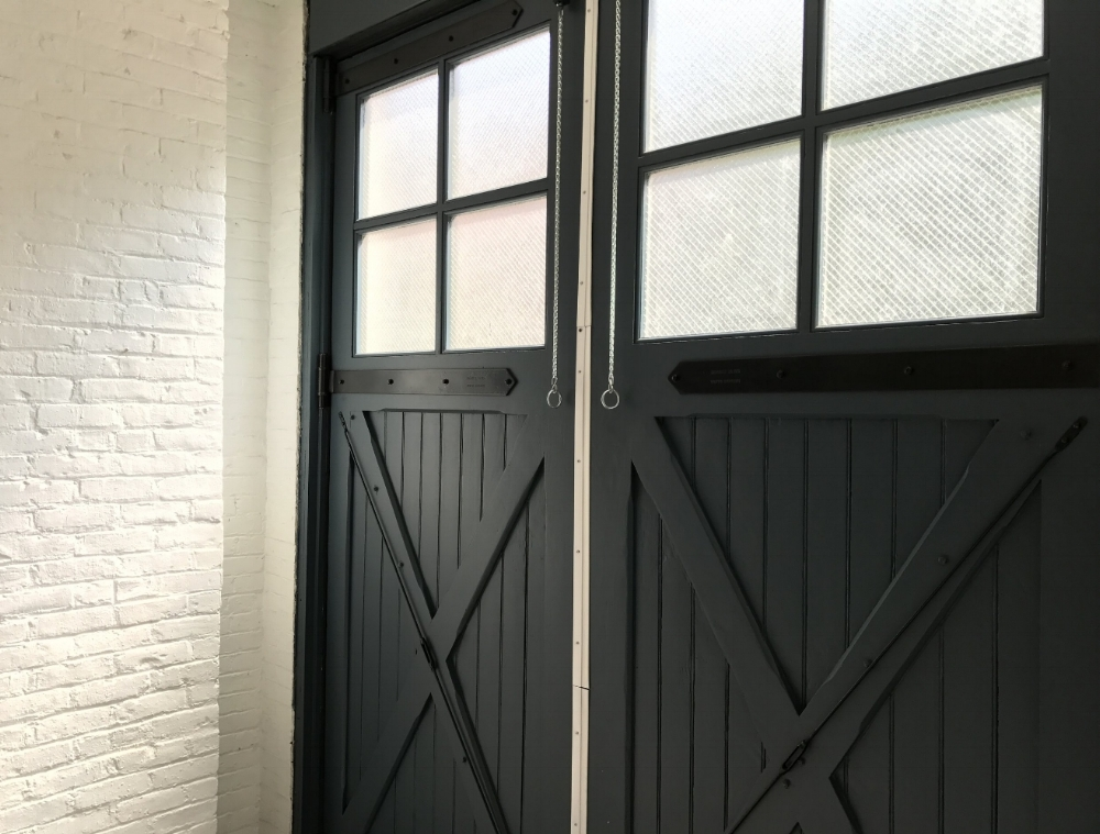 Original barn doors, an inspiring backdrop for a video session, or photo shoot.
