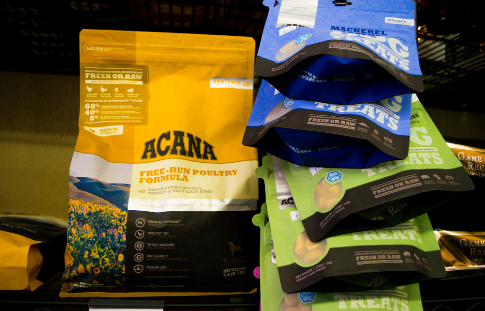 Just one of our natural dry food options for dogs. Acana is made in Kentucky and is an award-winning, protein rich formula for your pet.