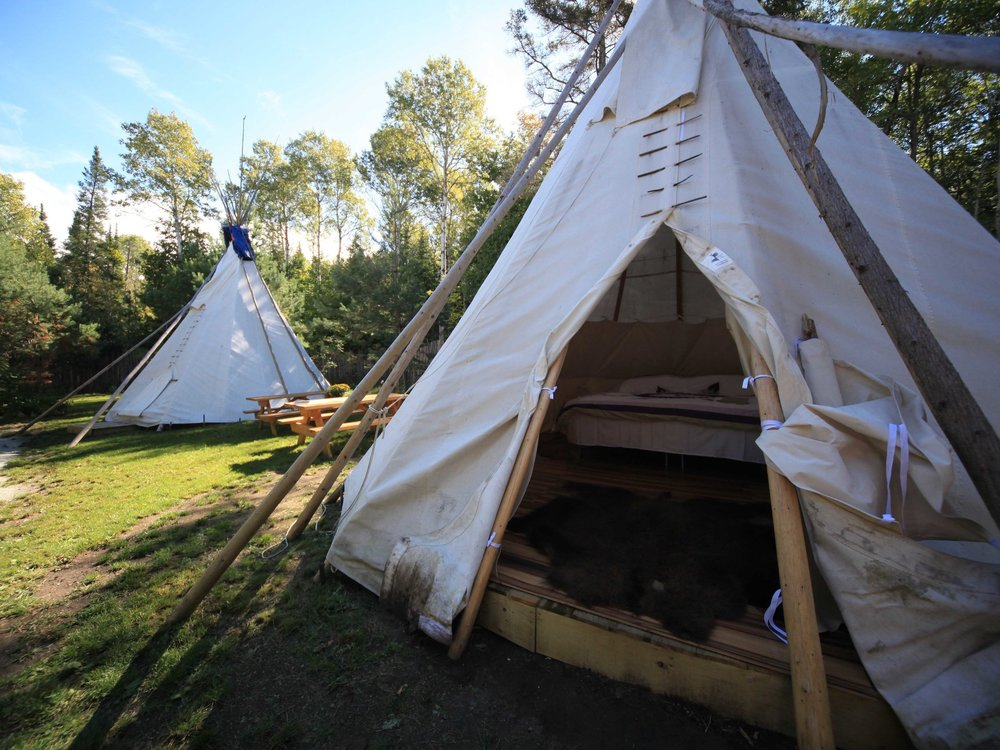 Staying in tipis at Spirit Island Adventures on Manitoulin Island, doing a full or half day trail riding at Honora Bay Riding Stable, a sunset canoe tour, day hiking, and/or a drum circle.  http://www.hbrstable.com/  Click on the image to learn more about Spirit Island Adventures.