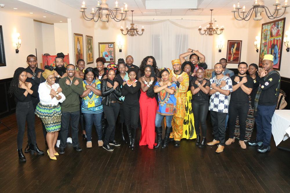 Post Black Panther movie dinner hosted by Debra Lee (center)                                Photographer/Kelon Miller