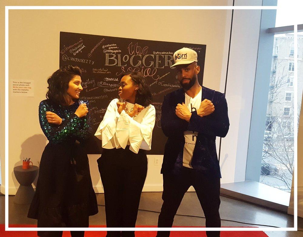 The Blogger Social Collaborators - Ayesha Akhtar (left), Deyla Sabio (center) and Henry Obispo