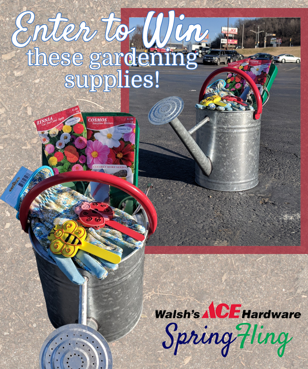 Stop in between 9am and 2pm on April 21st to enter to win these gardening supplies!