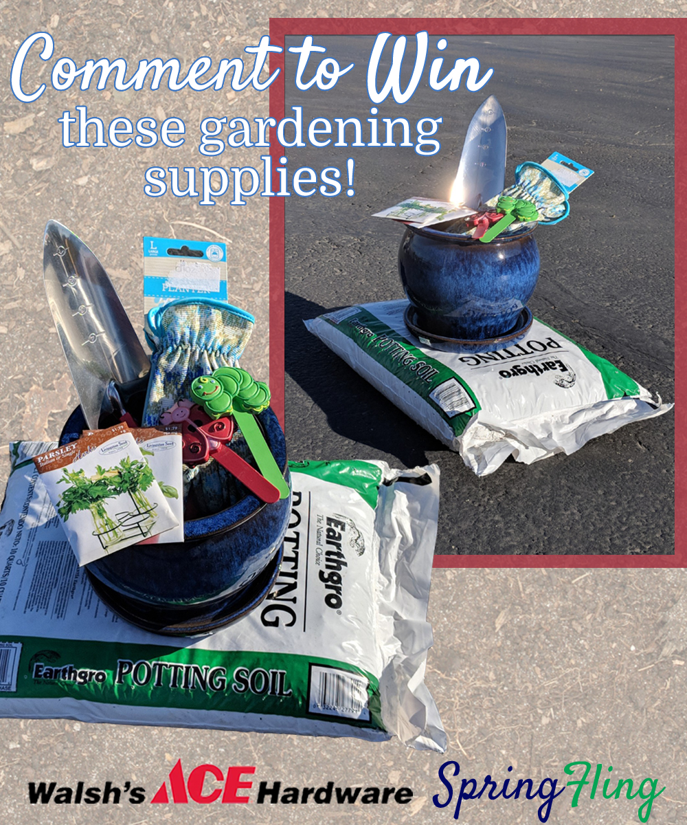 RSVP to our  Spring Fling Event  on Facebook and comment on this post for a chance to win these gardening supplies.