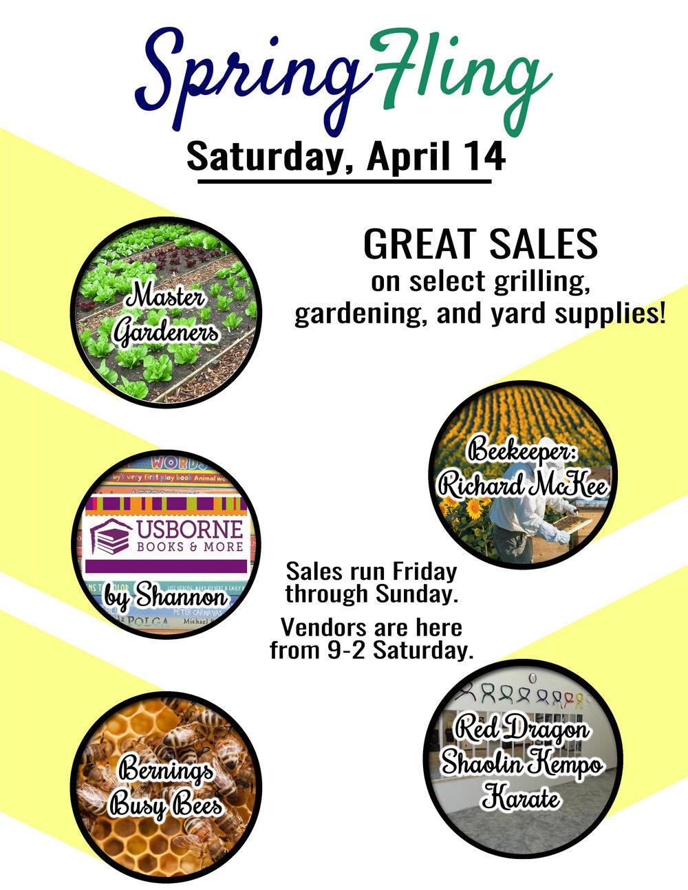 Portage Spring Fling has 5 great vendors!