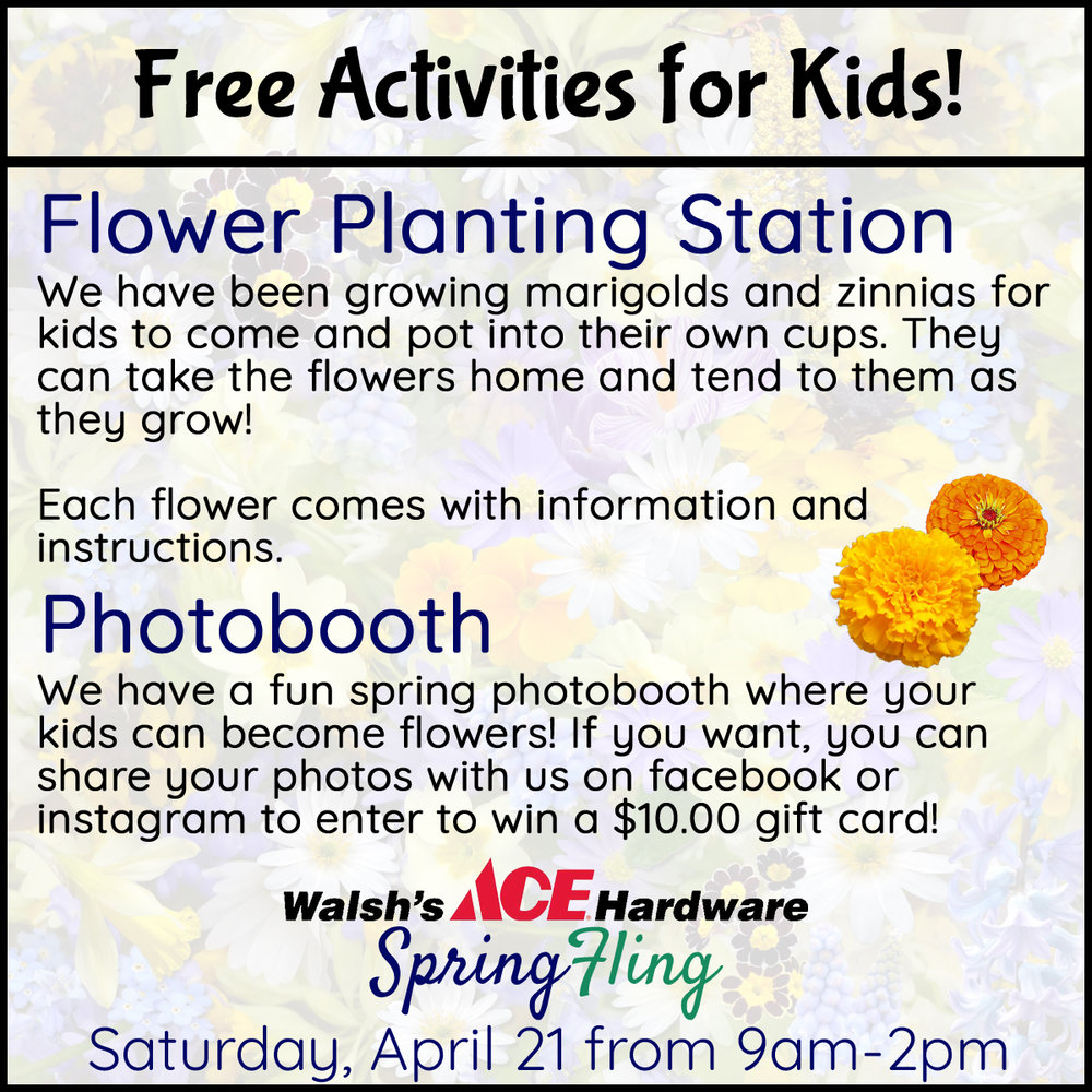We have some great activities for kids! In addition to our planting station and photobooth, kids can meet the Honey Queen and see a glass beehive!