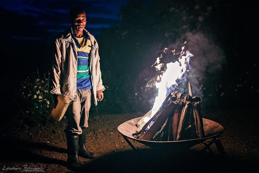 Campfire at Bukima
